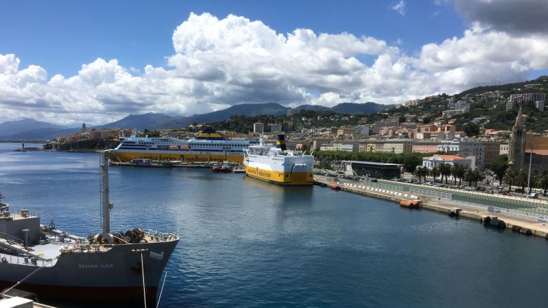 Illustration / Les navires de Corsica Ferries, à quai, à Bastia / © Christian Giugliano / France 3 Corse ViaStella